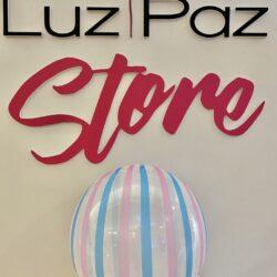 Stripe metal pink/blue 18″ bubble