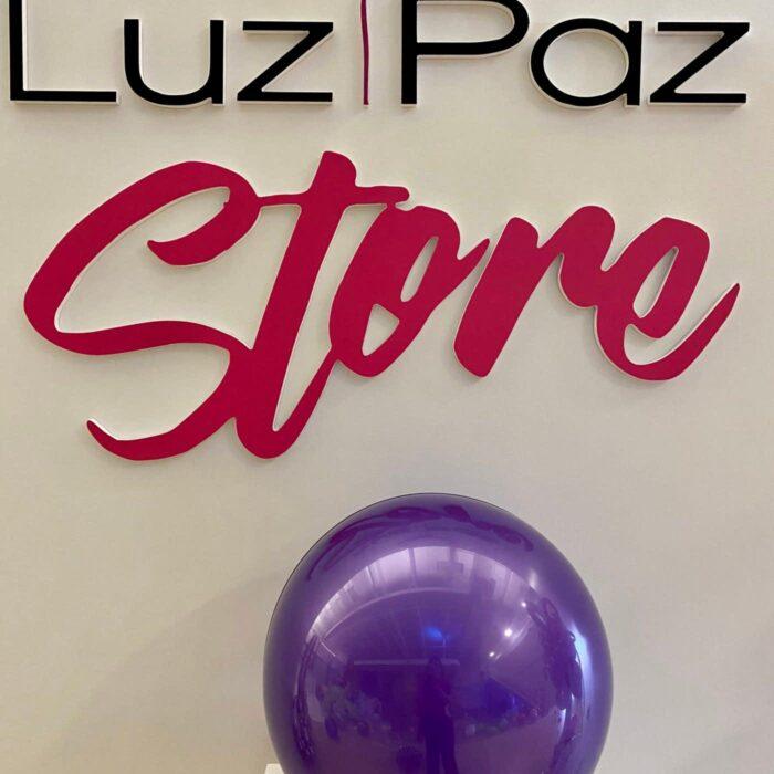 crystal purple 18″ bubble
